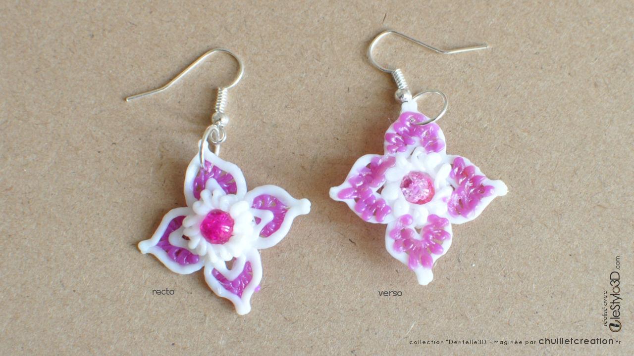 Bijoux lotx3 f02 violet 02 boucles oreilles
