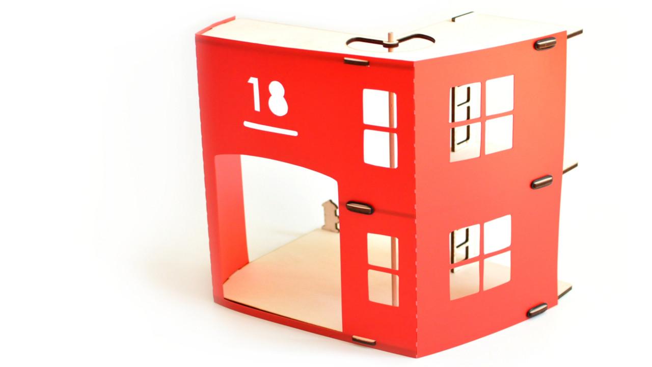 jouet Caserne de pompiers rouge fabriqué en france