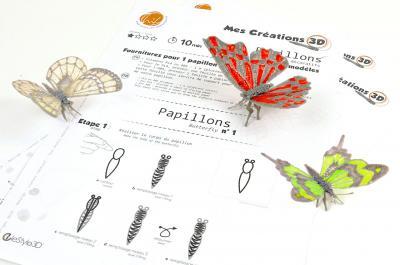 Kit papillon 3modeles3d 2w