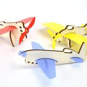 Mini avions en bois 3
