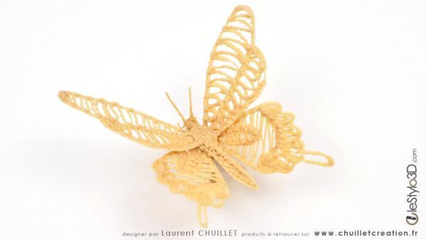 Papillon 3d bois img03