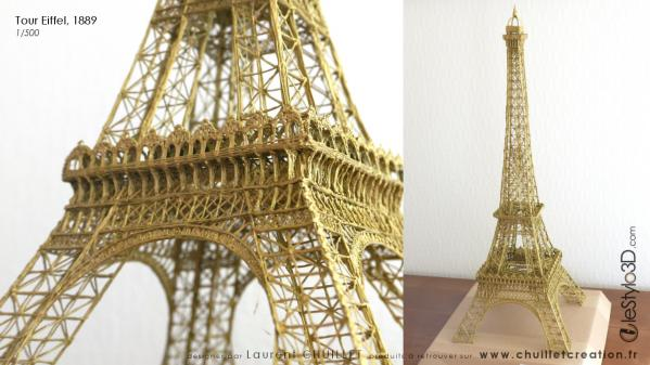 Tour Eiffel 3D bronze w